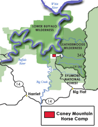 Caney Mountain Horse Camp About The Camp - Where is buffalo located